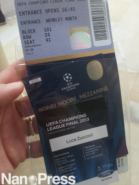 ticket of the match