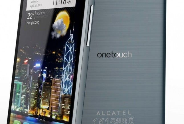 Alcatel One Touch Idol X fronte retro