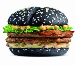 The Black and White burger in China