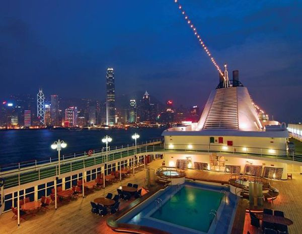 Luxury cruise around 49 ports in 115 days