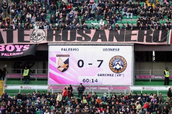 Pagelle serie A: Palermo Udinese 0-7, record assoluto