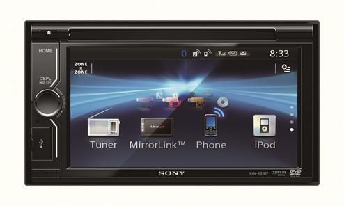 Sony XAV-601BT Mirrorlink, stereo, DVD e apps per un'auto multimediale