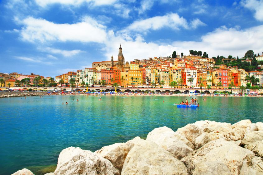 Menton   sunny town in south of France