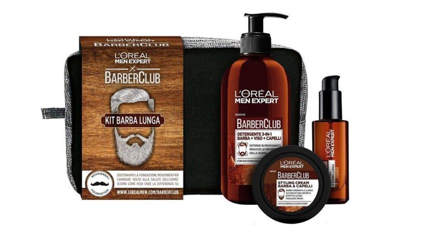 L'Oréal Paris Men Expert Barber Club Kit Barba Lunga natale 2017