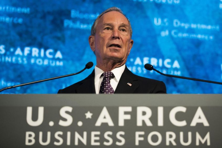 All'ultimo posto l'ex sindaco di NY Michael Bloomberg