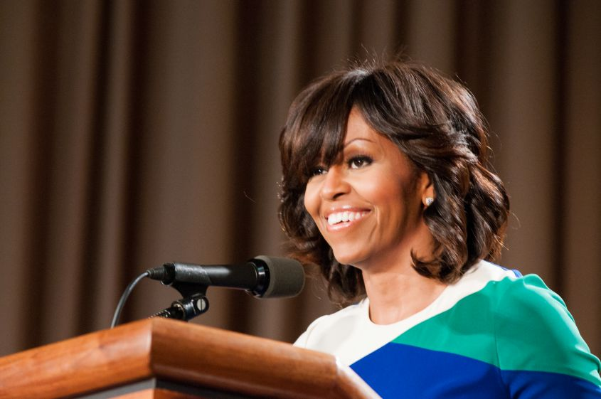 First Lady Michelle Obama Visiting USDA Employees