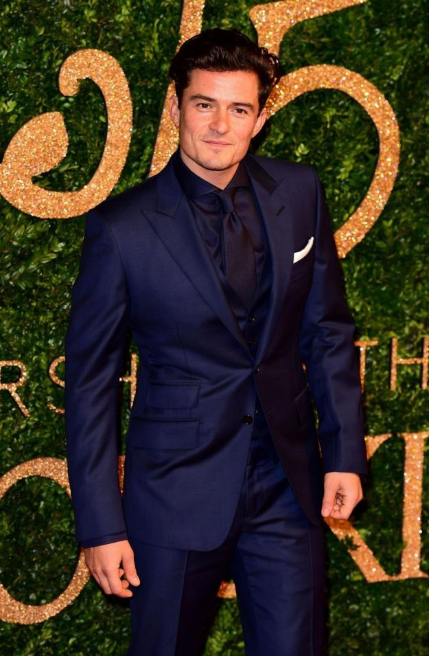 Orlando Bloom British Fashion Awards 2015
