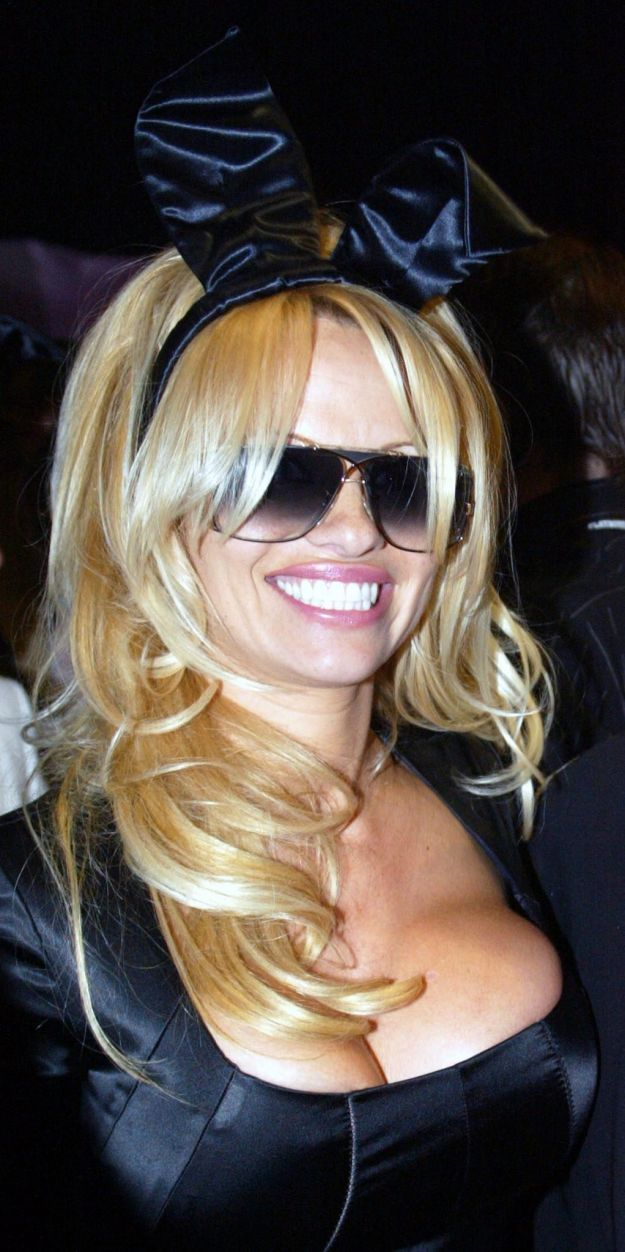 Former Playboy Playmate and US Actress Pamela Anderson, smiles for the camera's,