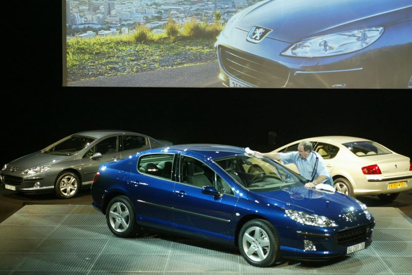 French automaker Peugeot presents its new model, the Peugeot 407