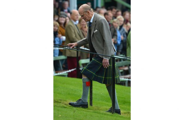 Prince Philip in gonna