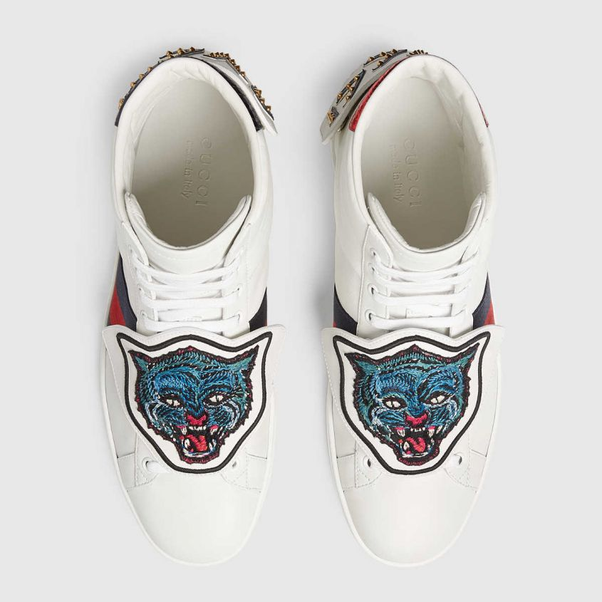 Sneaker Ace con patch staccabili