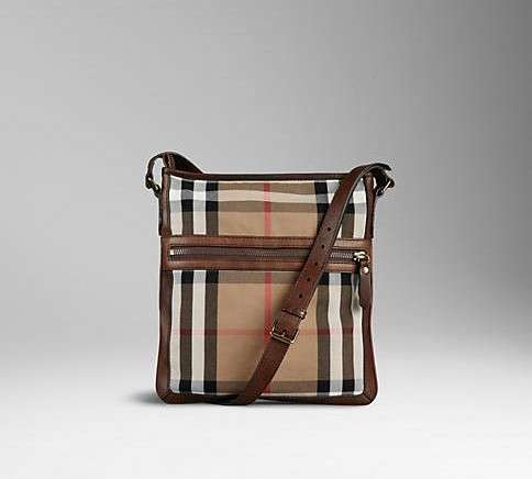 Borsello da uomo Burberry con check