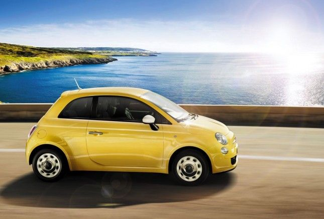 Fiat 500 Color Therapy 2013, giallo fiancata