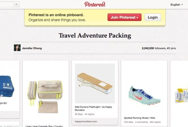 Pinterest Adventure Packing