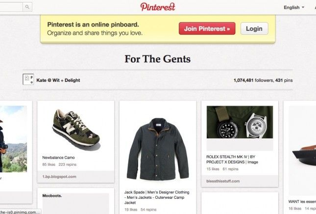 Pinterest For the Gents