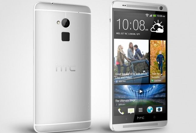 HTC One max Glacial Silver sinistra