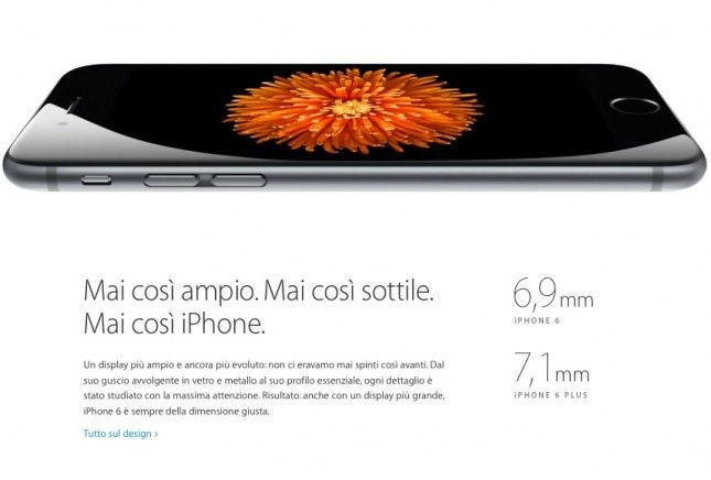 iPhone 6 sottile