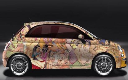 Kar-masutra: la Fiat 500 customizzata da Lapo Elkann e Garage Italia Customs