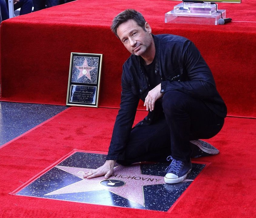 David Duchovny Hollywood Walk of Fame star ceremony