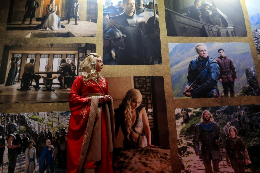 Mostra della serie Tv 'Game of Thrones'