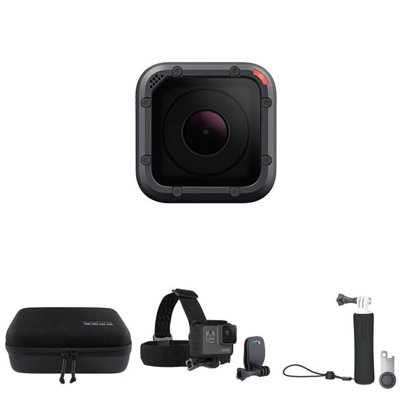 GoPro HERO5 Session Videocamera 10 MP, 4K Wi Fi, Bluetooth GoPro Casey  Headstrap GoPro Handler Impugnatura galleggiante amazon prime day