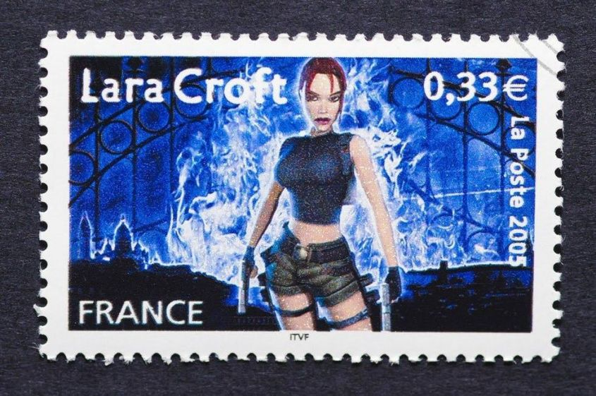 Lara Croft francobollo