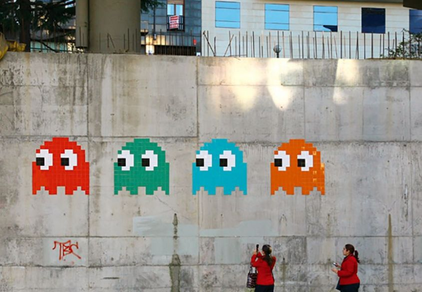 Pac Man Invader