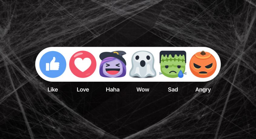 Facebook festeggia Halloween 2016 con le reactions a tema