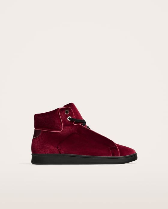 Sneakers in velluto uomo Zara Black Friday 2017