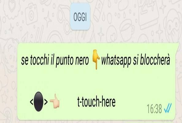 WhatsApp punto nero