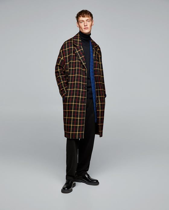 cappotto check uomo Zara Black Friday 2017