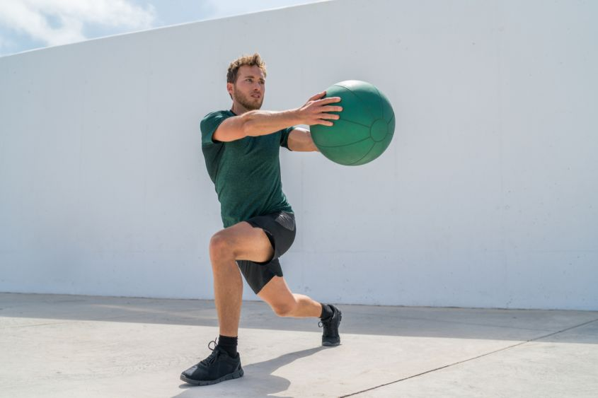 crossfit fitness lunge diagonale