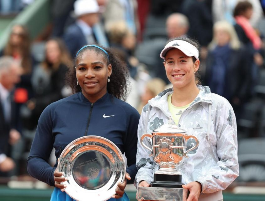 Serena Williams e Garbine Muguruza al Roland Garros