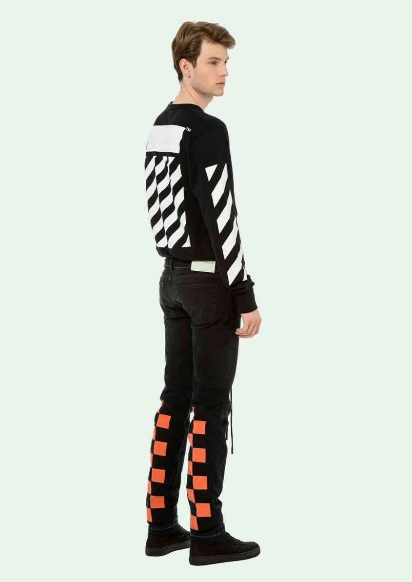 jeans check uomo off white