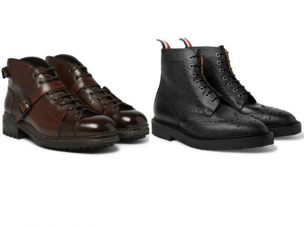 stivali lace up uomo