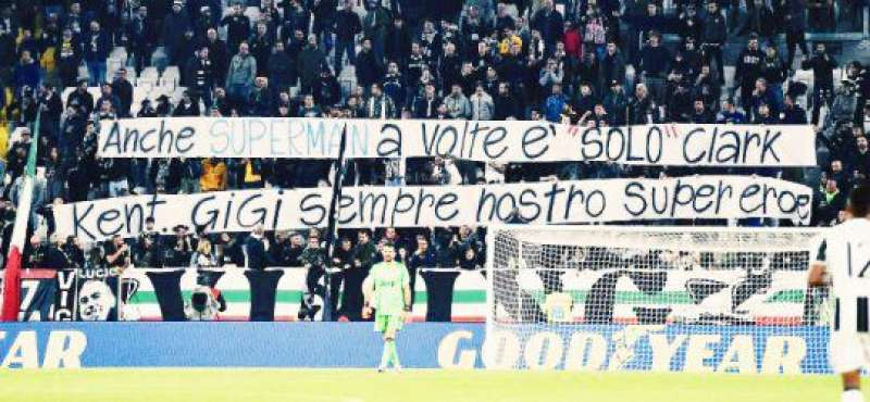 striscione per buffon 843520