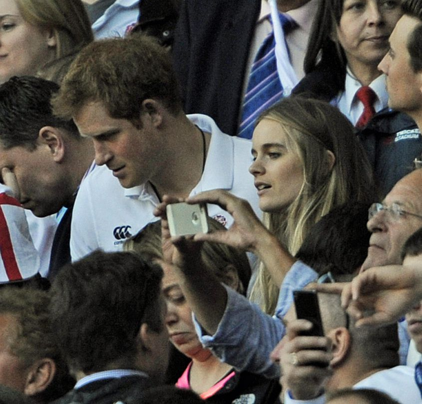 Prince Harry and Cressida Bonas visit rugby match