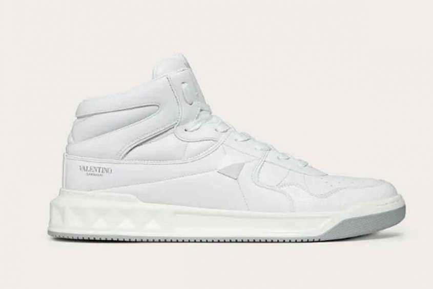 valentino one stud sneakers mid top