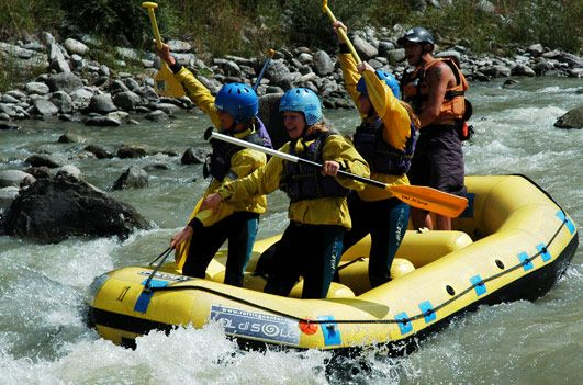 Rafting in Val di Sole: weekend adrenalinico
