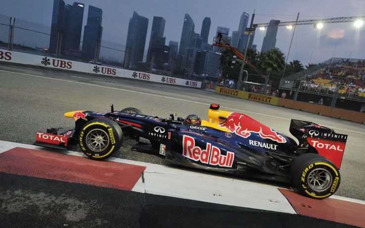 F1 Gp Singapore 2012: Vettel vince, Alonso sul podio