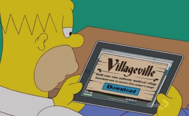 Simpson: fantastico sfottò a Apple e Farmville [VIDEO]