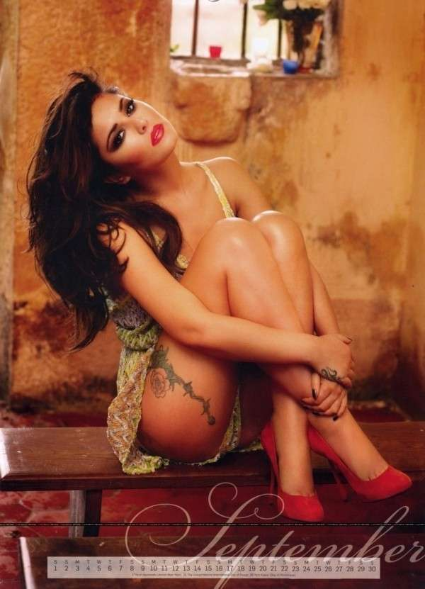 Cheryl Cole ha posato anche per un calendario