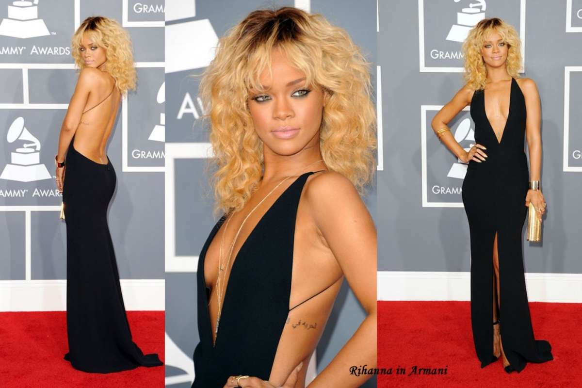 La sexy Rihanna sul red carpet dei Grammy Awards 2012