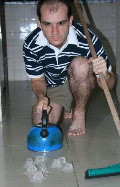 Curling in bagno