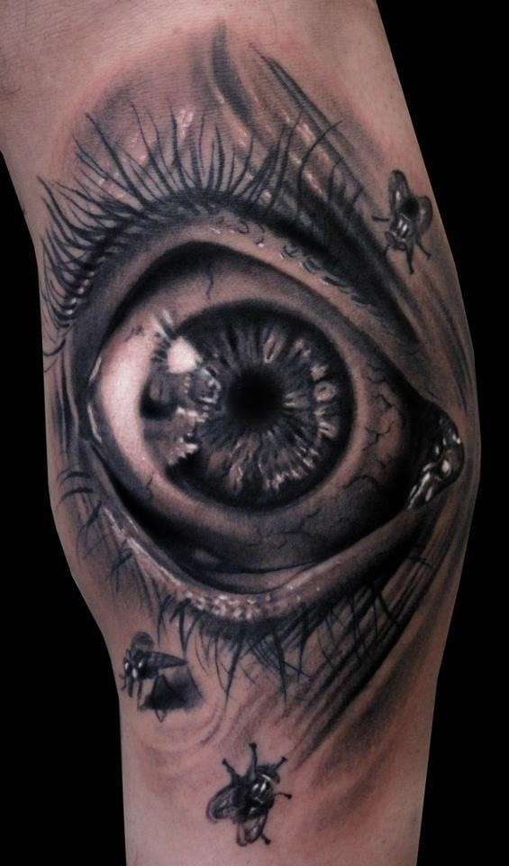 Scary eye - 3D Tattoo
