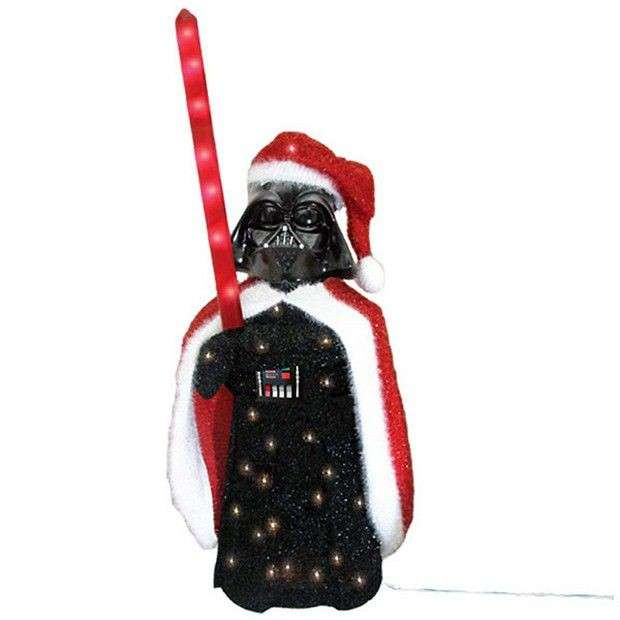 Statuina Darth Vader di Star Wars in versione natalizia