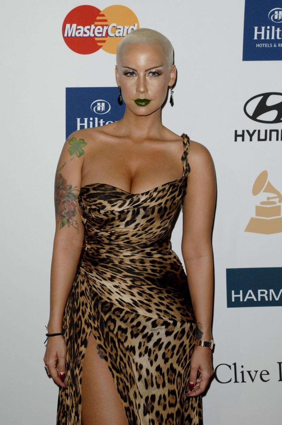 Amber Rose in abito animalier