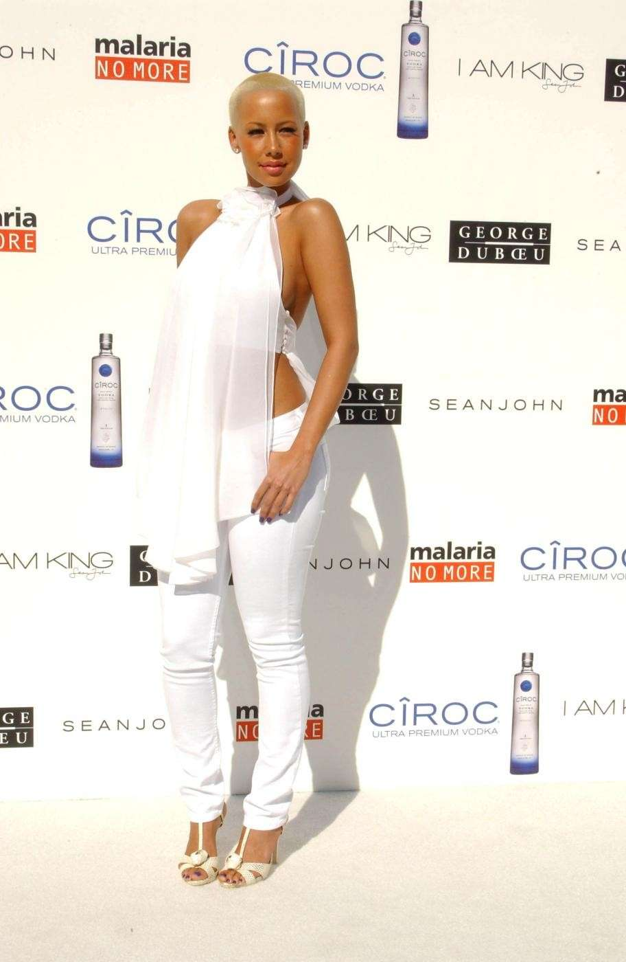 Amber Rose The White Party al Beverly Park