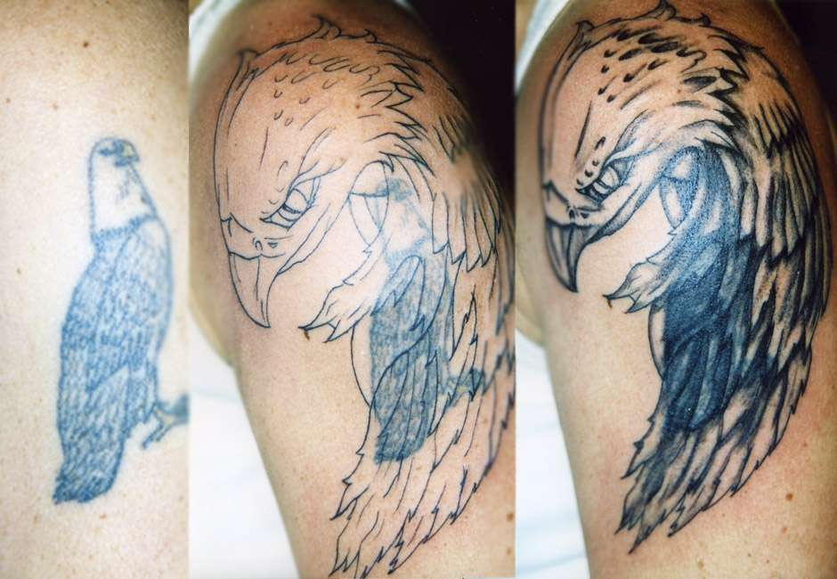 Tattoo aquila cover up