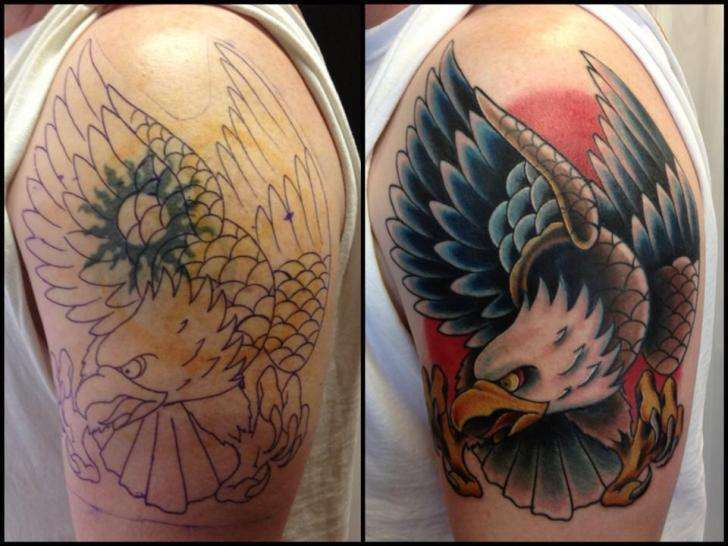 Tatuaggio sole cover up